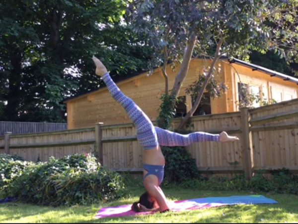 Yoga headstand variations