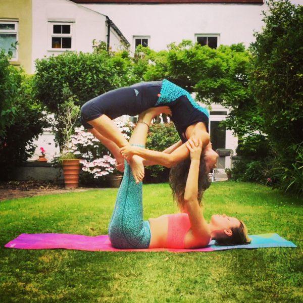 Backward Bow in Acro - yoga