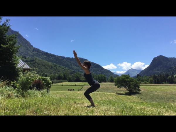 Alpine flow yoga retreat