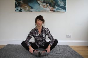 Yoga for hikers - bound angle pose