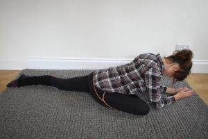 Yoga for hikers - pigeon pose. For hips