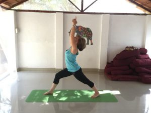 Yoga after knee replacement surgery - Warrior 1