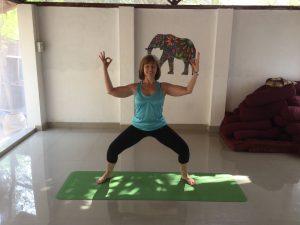 Goddess pose as an alternative to Squat after knee surgery
