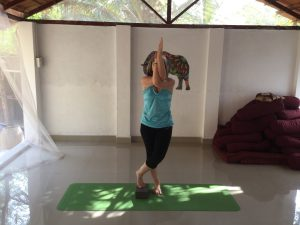 Yoga after knee replacement surgery - Eagle pose