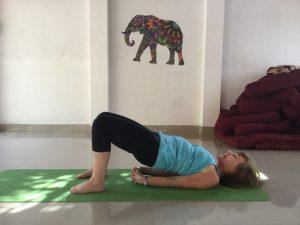 Yoga after knee replacement surgery - Bridge pose