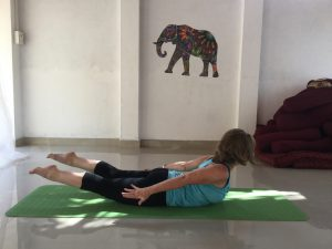 Yoga after knee replacement surgery - Locust pose
