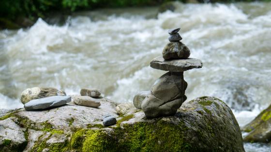 Flowing river meditation
