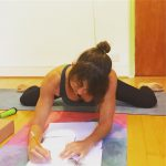 Food, fitness and work diary of a yoga instructor