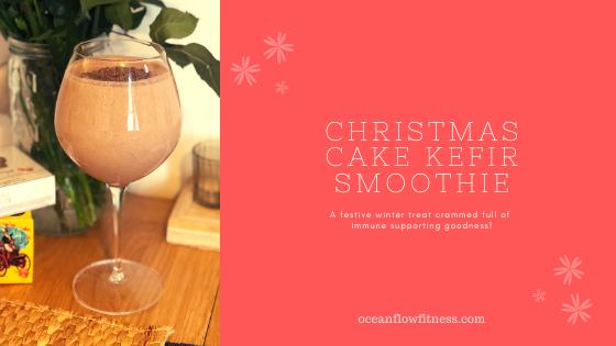 Christmas cake kefir smoothie recipe