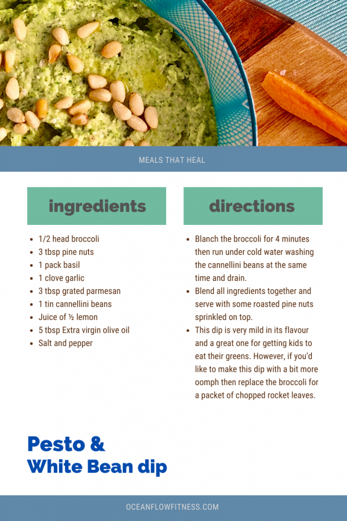 Pesto and white bean dip