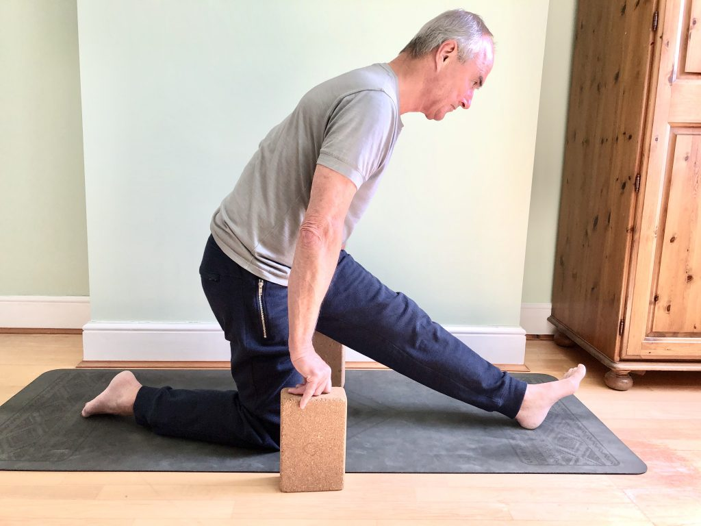 Hamstring and calf stretch for men's yoga