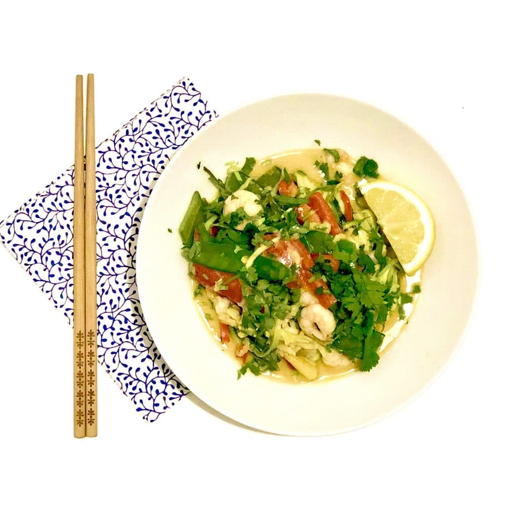 Spicy Satay King Prawn Courgetti Noodles