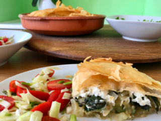 Crispy Greek-style pie recipe