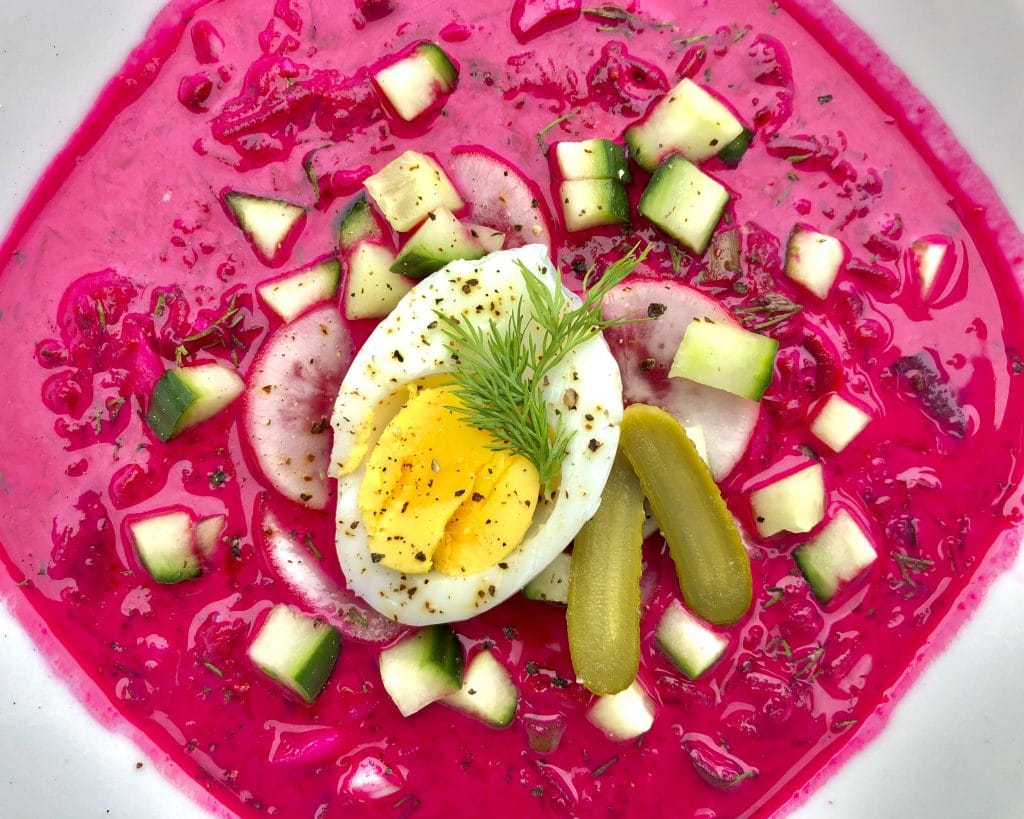 Cold beetroot soup recipe