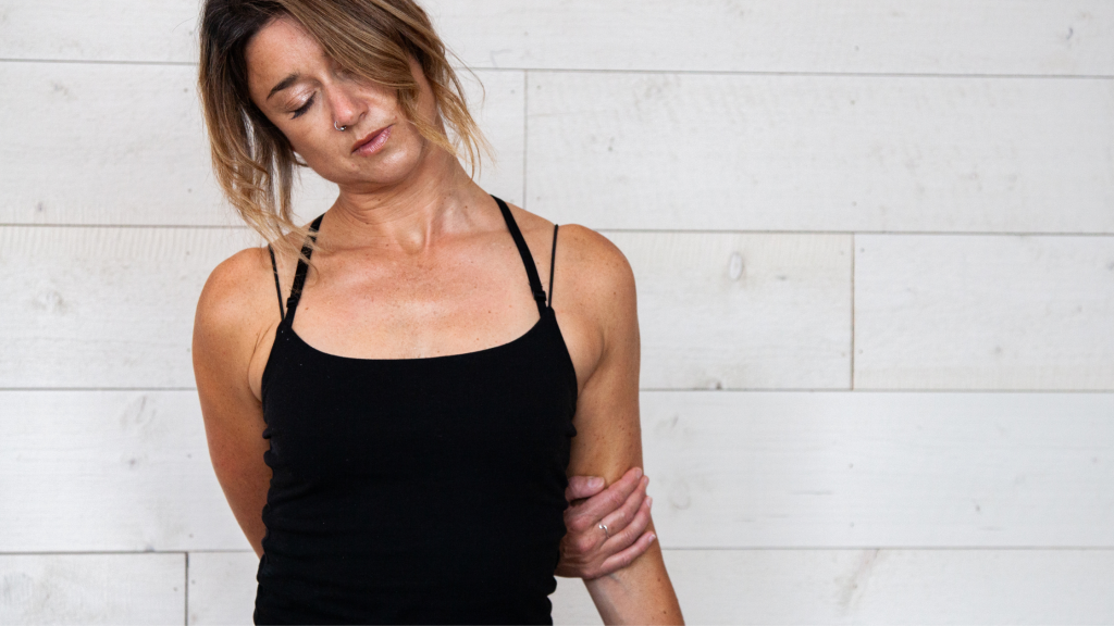Graceful Bow pose for releasing neck tension