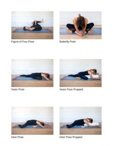 Wood Element poses in Yin yoga guide