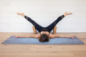 Yin Yoga sequence for Wood element with Wall Straddle